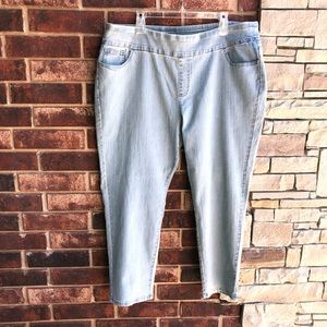 D&Co. Pull on Stretch Light Blue Jeans Wm 22W